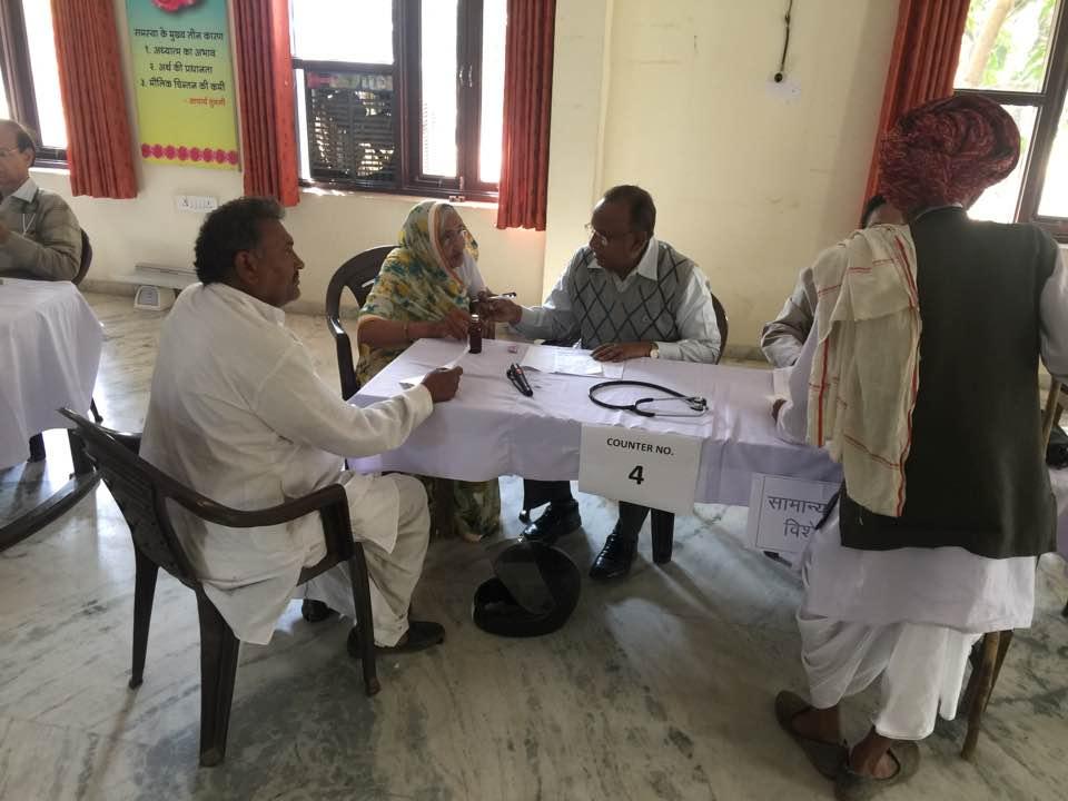 MEGA MEDICAL CAMP AT JEEVAN JYOTI (Best Old Age Home In Jaipur)